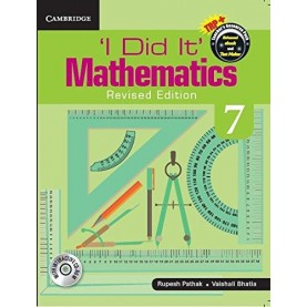 'I Did It' Mathematics  Level 7 Student's Book 9781316603789